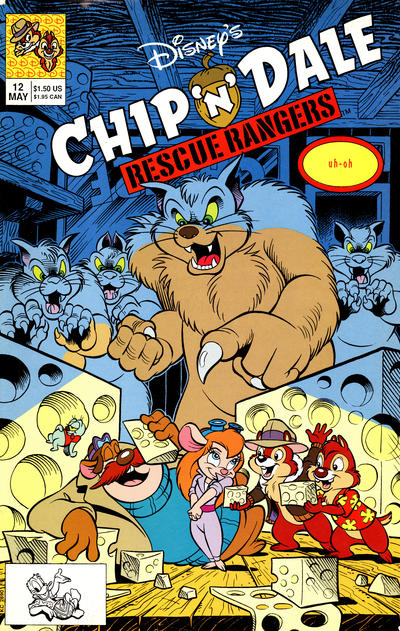 Cover for Chip 'n' Dale Rescue Rangers (Disney, 1990 series) #12