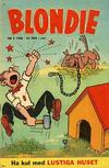 Cover for Blondie (Åhlén & Åkerlunds, 1956 series) #5/1960