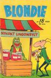 Cover for Blondie (Åhlén & Åkerlunds, 1956 series) #18/1959