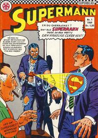 Cover Thumbnail for Supermann (Serieforlaget / Se-Bladene / Stabenfeldt, 1966 series) #1/1969