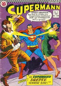 Cover Thumbnail for Supermann (Serieforlaget / Se-Bladene / Stabenfeldt, 1966 series) #2/1969
