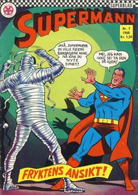 Cover Thumbnail for Supermann (Serieforlaget / Se-Bladene / Stabenfeldt, 1966 series) #7/1968