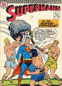 Cover Thumbnail for Supermann (Serieforlaget / Se-Bladene / Stabenfeldt, 1966 series) #4/1968