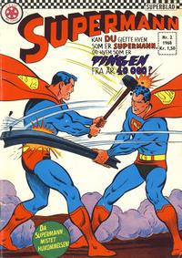 Cover Thumbnail for Supermann (Serieforlaget / Se-Bladene / Stabenfeldt, 1966 series) #2/1968