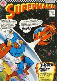 Cover Thumbnail for Supermann (Serieforlaget / Se-Bladene / Stabenfeldt, 1966 series) #1/1968