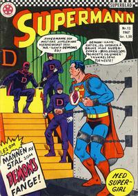 Cover Thumbnail for Supermann (Serieforlaget / Se-Bladene / Stabenfeldt, 1966 series) #12/1967