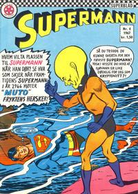 Cover Thumbnail for Supermann (Serieforlaget / Se-Bladene / Stabenfeldt, 1966 series) #4/1967
