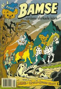 Cover Thumbnail for Bamse (Egmont, 1997 series) #1/2001 (334)