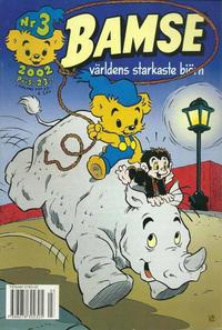 Cover Thumbnail for Bamse (Egmont, 1997 series) #3/2002