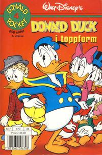 Cover Thumbnail for Donald Pocket (Hjemmet / Egmont, 1968 series) #4 - Donald Duck i toppform [5. opplag]