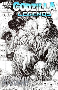 Cover Thumbnail for Godzilla Legends (IDW, 2011 series) #4 [Cover RI by Arthur Adams (Sketch Version)]