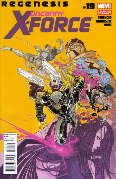 Cover for Uncanny X-Force (Marvel, 2010 series) #19