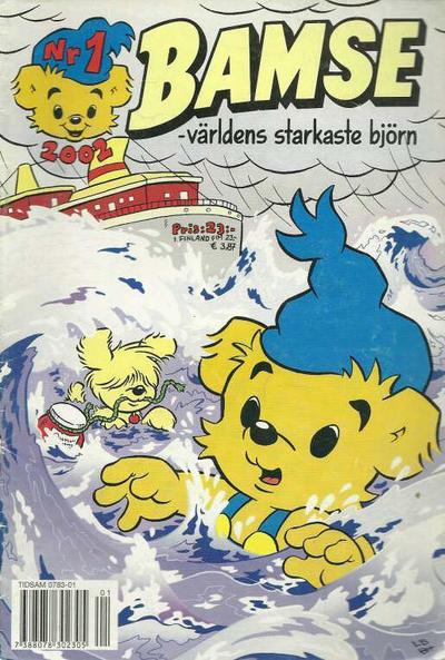 Cover for Bamse (Egmont, 1997 series) #1/2002