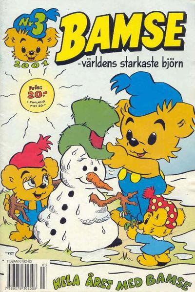 Cover for Bamse (Egmont, 1997 series) #3/2001 (336)
