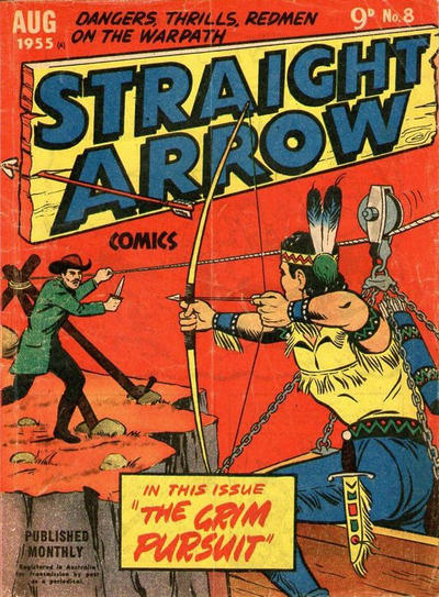 Cover for Straight Arrow Comics (Magazine Management, 1955 series) #8