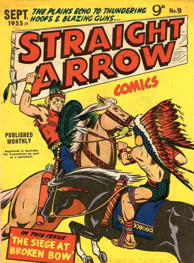 Cover for Straight Arrow Comics (Magazine Management, 1955 series) #9