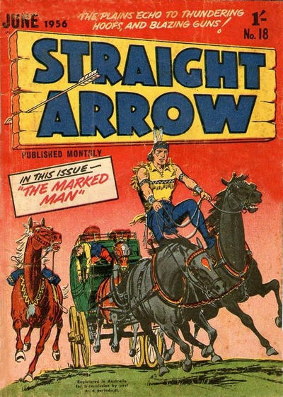 Cover for Straight Arrow Comics (Magazine Management, 1955 series) #18