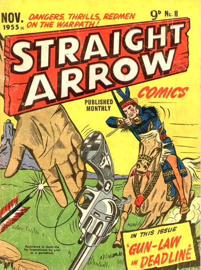 Cover for Straight Arrow Comics (Magazine Management, 1955 series) #11