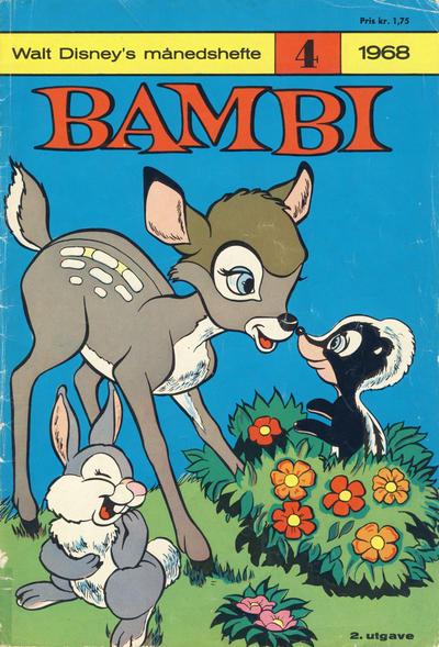 Cover for Walt Disney's Månedshefte (Hjemmet / Egmont, 1967 series) #4/1968
