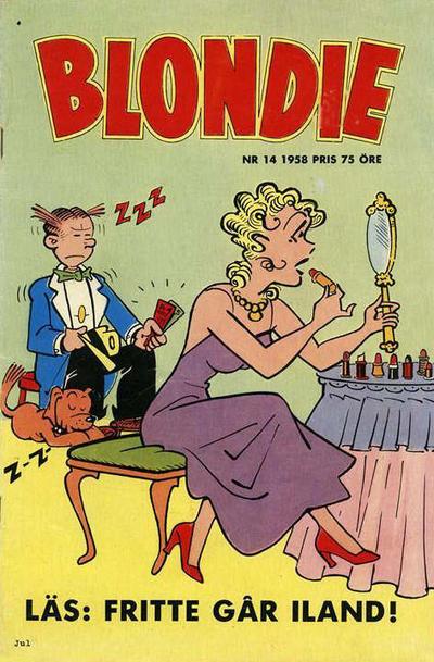 Cover for Blondie (Åhlén & Åkerlunds, 1956 series) #14/1958