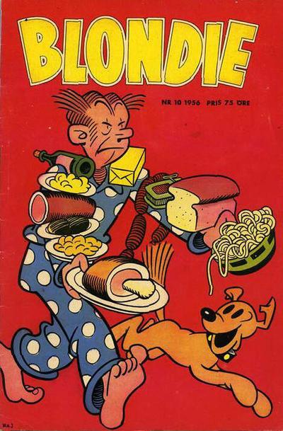 Cover for Blondie (Åhlén & Åkerlunds, 1956 series) #10/1956