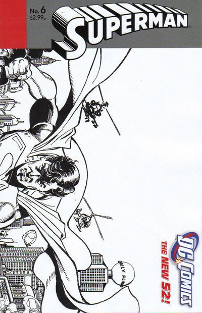 Cover for Superman (DC, 2011 series) #6 [1:25 Variant]