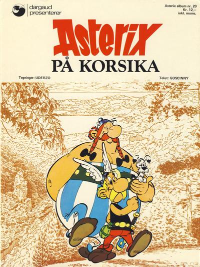 Cover for Asterix (Hjemmet / Egmont, 1969 series) #20 - Asterix på Korsika [1. opplag]