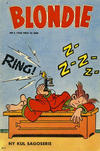 Cover for Blondie (Åhlén & Åkerlunds, 1956 series) #5/1958