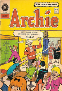Cover Thumbnail for Archie (Editions Héritage, 1971 series) #9
