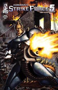 Cover Thumbnail for Jurassic Strike Force 5 (Zenescope Entertainment, 2011 series) #2 [Cover B Caio Cacau]