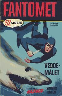 Cover Thumbnail for Fantomet (Romanforlaget, 1966 series) #10/1968