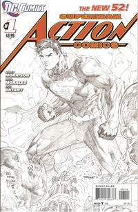Cover Thumbnail for Action Comics (DC, 2011 series) #1 [4th Printing Cover]