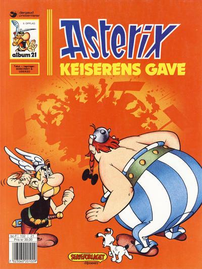 Cover for Asterix (Hjemmet / Egmont, 1969 series) #21 - Keiserens gave [3. opplag]
