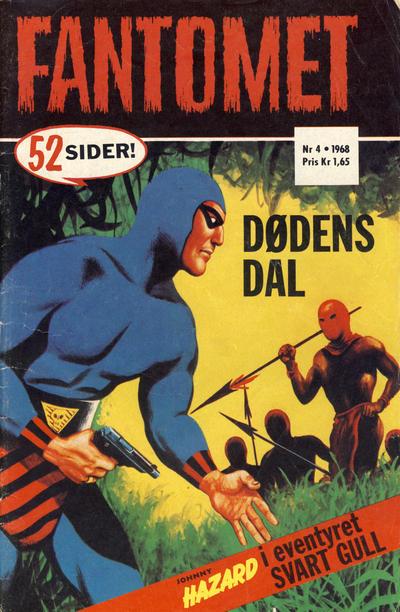 Cover for Fantomet (Romanforlaget, 1966 series) #4/1968