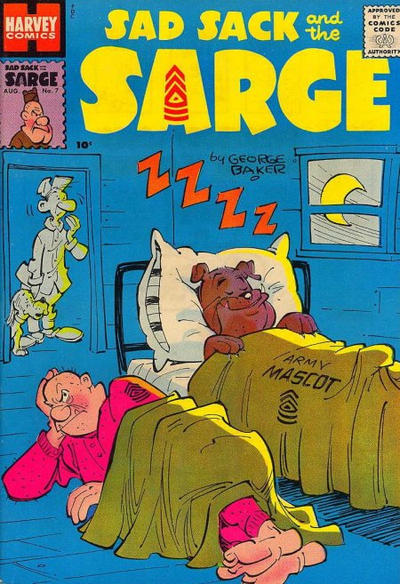 Cover for Sad Sack and the Sarge (Harvey, 1957 series) #7
