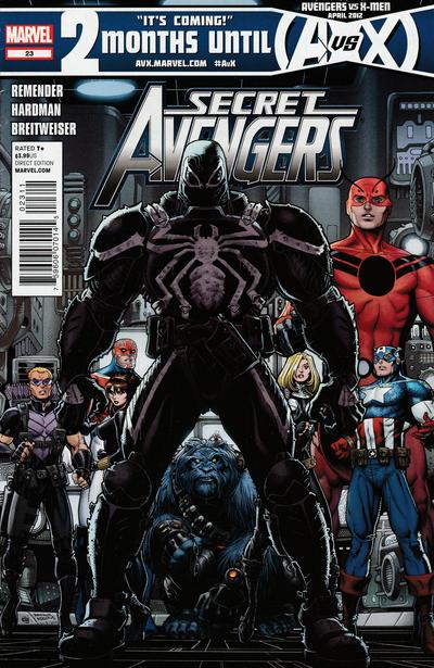Cover for Secret Avengers (Marvel, 2010 series) #23 [2nd Printing Variant]