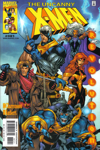 Cover for The Uncanny X-Men (Marvel, 1981 series) #381 [Adam Kubert Newsstand Cover]
