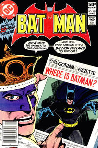 Cover Thumbnail for Batman (DC, 1940 series) #336 [Newsstand]
