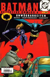 Cover Thumbnail for Batman: Detective Comics (Panini Deutschland, 2002 series) #4 - Unwägbarkeiten