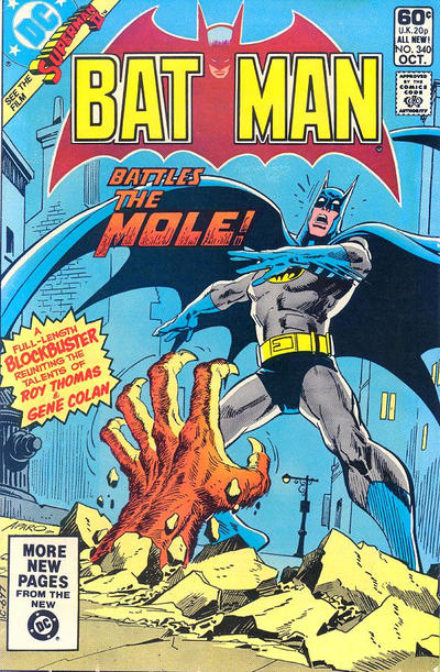 Cover for Batman (DC, 1940 series) #340
