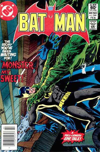 Cover for Batman (DC, 1940 series) #344