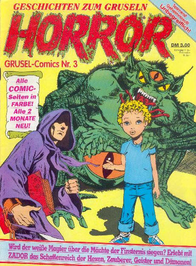 Cover for Horror (Condor, 1989 series) #3