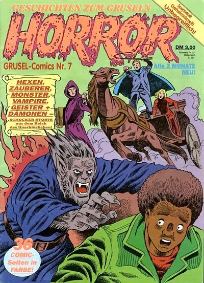 Cover for Horror (Condor, 1989 series) #7