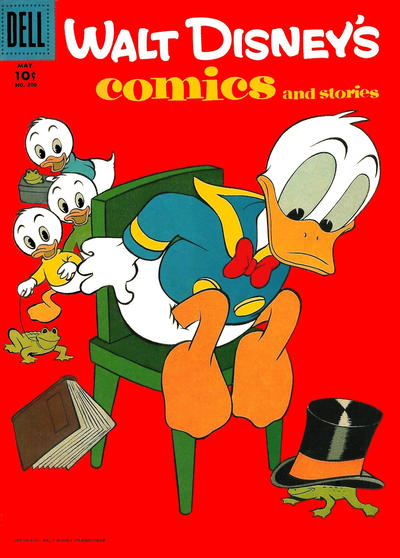 Cover for Walt Disney's Comics and Stories (Dell, 1940 series) #v17#8 (200)