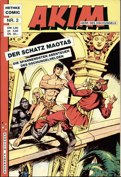 Cover for Akim Herr des Dschungels (Norbert Hethke Verlag, 1988 series) #2