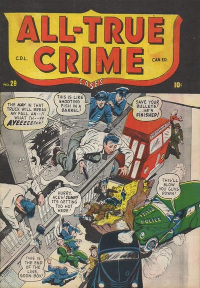Cover for All True Crime Cases Comics (Bell Features, 1948 series) #28