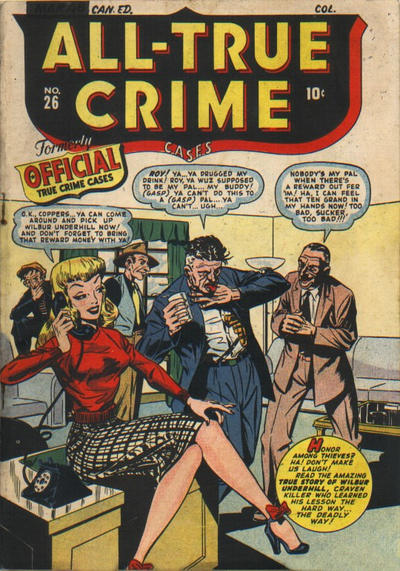 Cover for All True Crime Cases Comics (Bell Features, 1948 series) #26