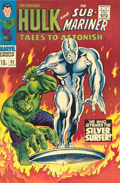 Cover for Tales to Astonish (Marvel, 1959 series) #93 [UK cover price]