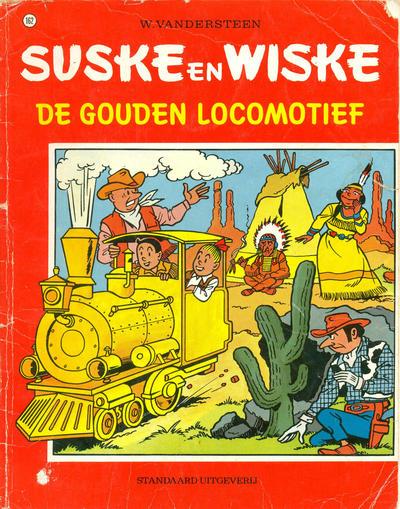 Cover for Suske en Wiske (Standaard Uitgeverij, 1967 series) #162 - De gouden locomotief