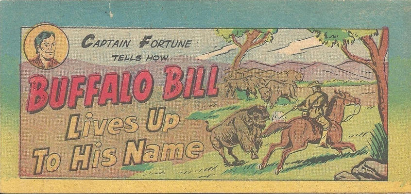 Cover for Captain Fortune Tells How Buffalo Bill Lives Up to His Name (Vital Publications, 1955 series)
